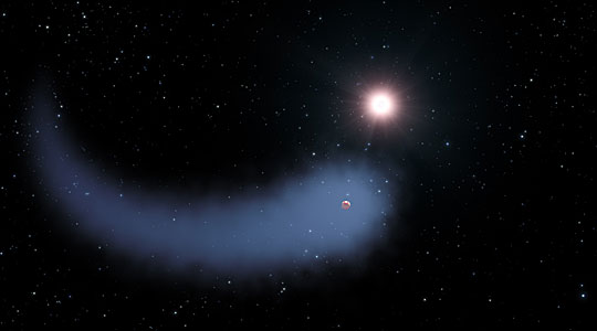 Artist impression of Gliese 436b