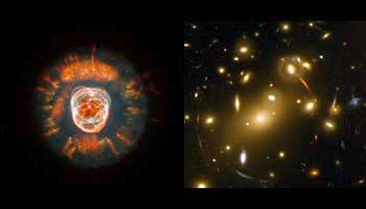 The Eskimo Nebula and Abell 2218