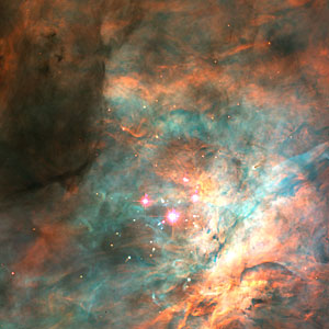 Trapezium Cluster in the Orion Nebula