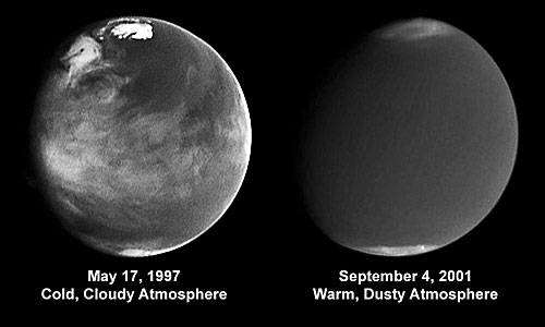 Comparison of Atmospheric Activity (blue 410 nm) from 1997 and 2001
