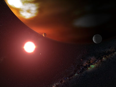 Hubble Makes Precise Measure of Extrasolar World's True Mass (artist's impression)