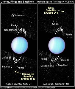 Hubble Spies Tiny Moons Circling Uranus