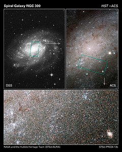 Hubble sees stars as numerous as grains of sand in nearby galaxy