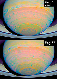 Saturn: 2003/2004 Image Comparison