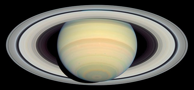 Saturn as Seen by Hubble