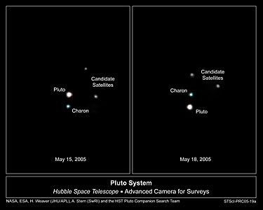 Hubble Spies Possible New Moons Orbiting Pluto