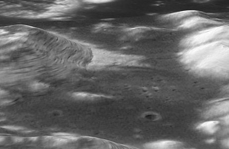 Hubble Image Overlaid on Modeling of Apollo 17 Landing Site