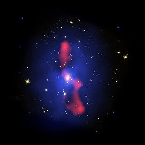 Composite Image of Galaxy Cluster MS 0735