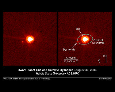 Hubble View of Eris and Dysnomia