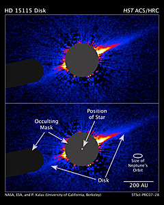 Hubble Reveals Lopsided Debris Disk Around Star
