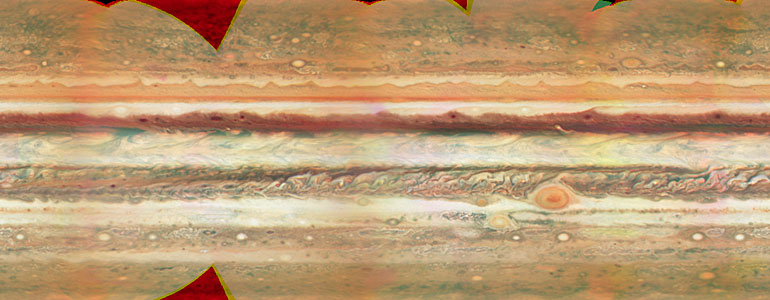Jupiter Map - Unannotated