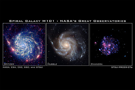 Spiral galaxy M101 - NASA's Great Observatories