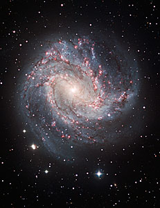 Ground-based image of M83 Taken at ESO in La Silla, Chile