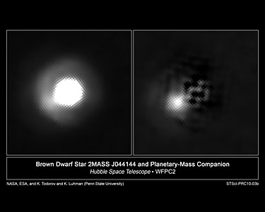 Brown dwarf and mystery companion