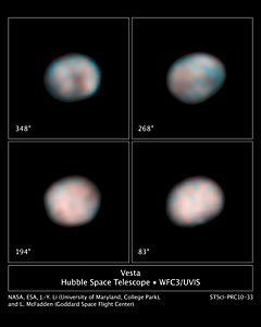 The faces of Vesta