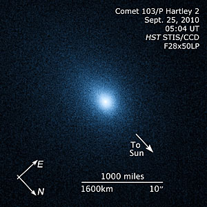 Compass and scale image for comet 103/P Hartley 2