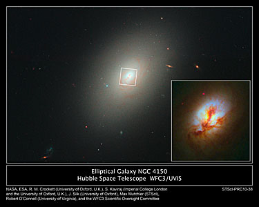 Hubble spies young stars in ancient galaxy's core
