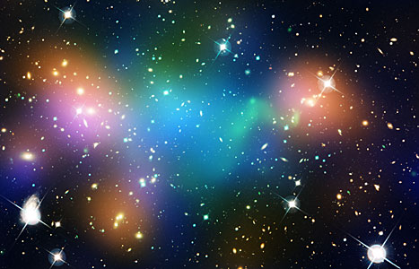Galaxy Cluster Abell 520 (HST-CFHT-CXO composite)