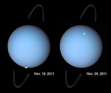 Hubble spots aurorae on the planet Uranus