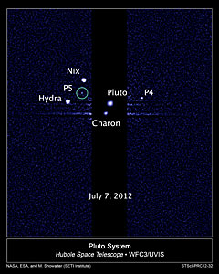 Hubble discovers a fifth moon orbiting Pluto