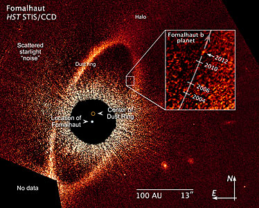 Compass and scale image for Fomalhaut b