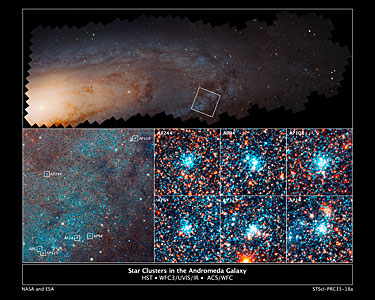 Star cluster in the Andromeda galaxy
