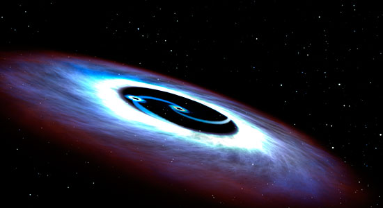 Artist's concept of double black hole
