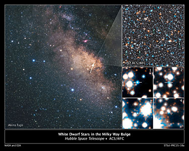 Hubble Spots White Dwarfs in Milky Way's Central Hub