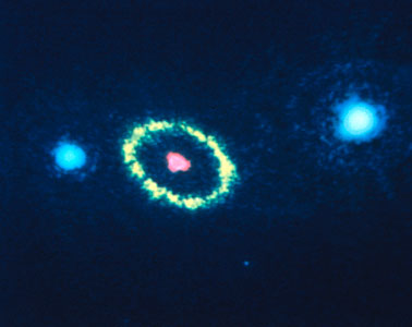 Hubble Space Telescope Resolves Gaseous Ring Around Supernova