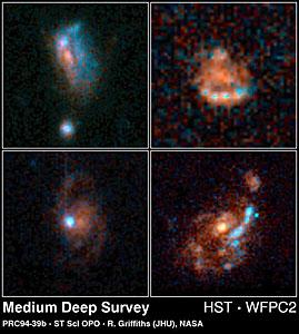Normal Galaxies from HST Medium Deep Survey
