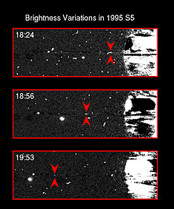 Brightness Variations in Saturn's Satellite 1995S5