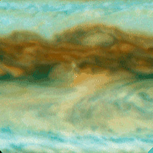 Galileo Probe Entry Site on Jupiter