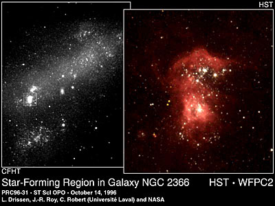 Star-Forming Region in Galaxy NGC 2366