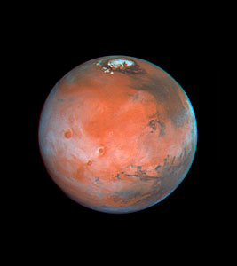Four Views of Mars in Northern Summer