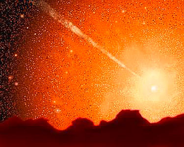 Milky Way/Andromeda Collision (artist's impression)