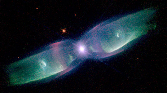 Hubble Sees Supersonic Exhaust From Nebula