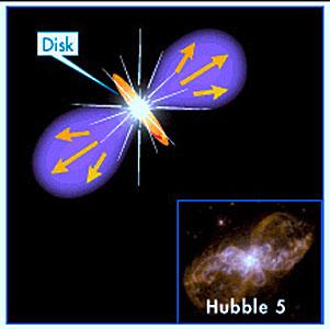 Hubble 5 illustration