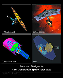 Proposed Designs for James Webb Space Telescope