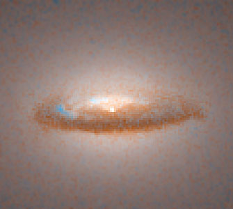 Disk around a Black Hole in Galaxy NGC 7052 (Hubble WFPC2 View)