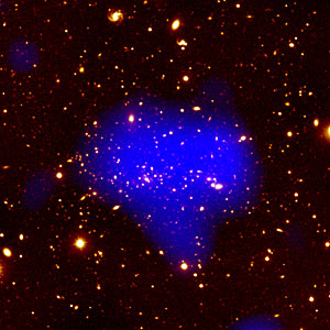 Telescopes Unveil View Of Remote, Massive Galaxy Cluster