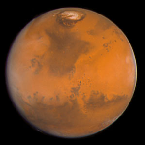 Martian colours Provide Clues About Martian Water (Hubble WFPC2 View)