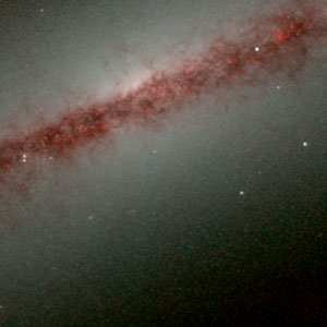 Hubble's Infrared Galaxy Gallery. A View of NGC 891