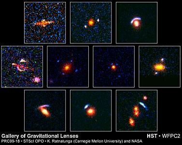 Hubble's Top Ten Gravitational Lenses