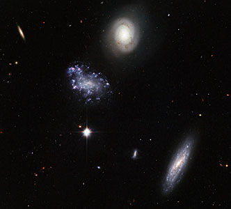 A clump of galaxy misfits