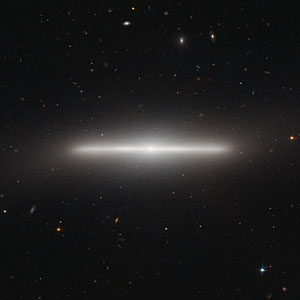 An extraordinarily slender galaxy