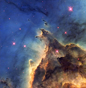 Fiery young stars wreak havoc in stellar nursery