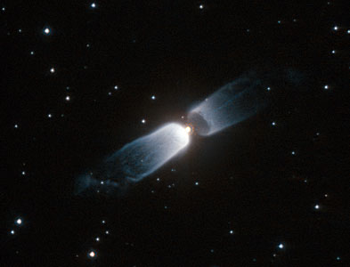 Hubble watches a celestial prologue