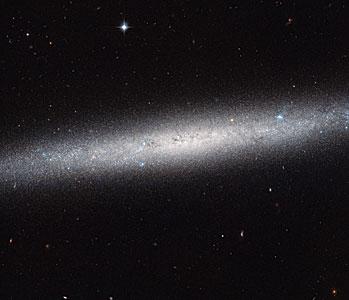 A galaxy on the edge
