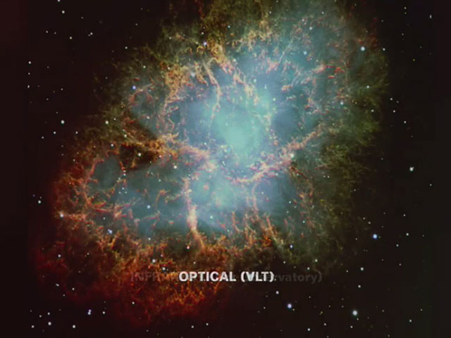 The Crab Nebula in different wavelengths