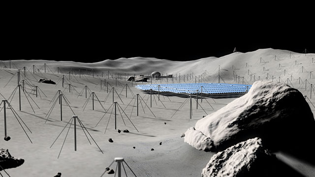 Antennae on the Moon  (artist's impression)